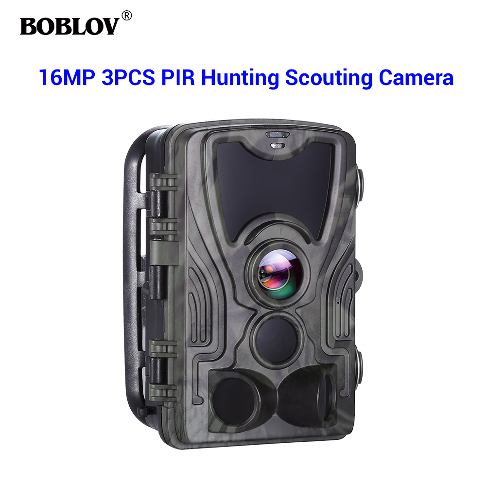 BOBLOV Hunting Trail Camera animal Camera Infrared Photo Video Surveillance 16MP 1080P Night Vision hunting camera-in Hunting Cameras from Sports & Entertainment