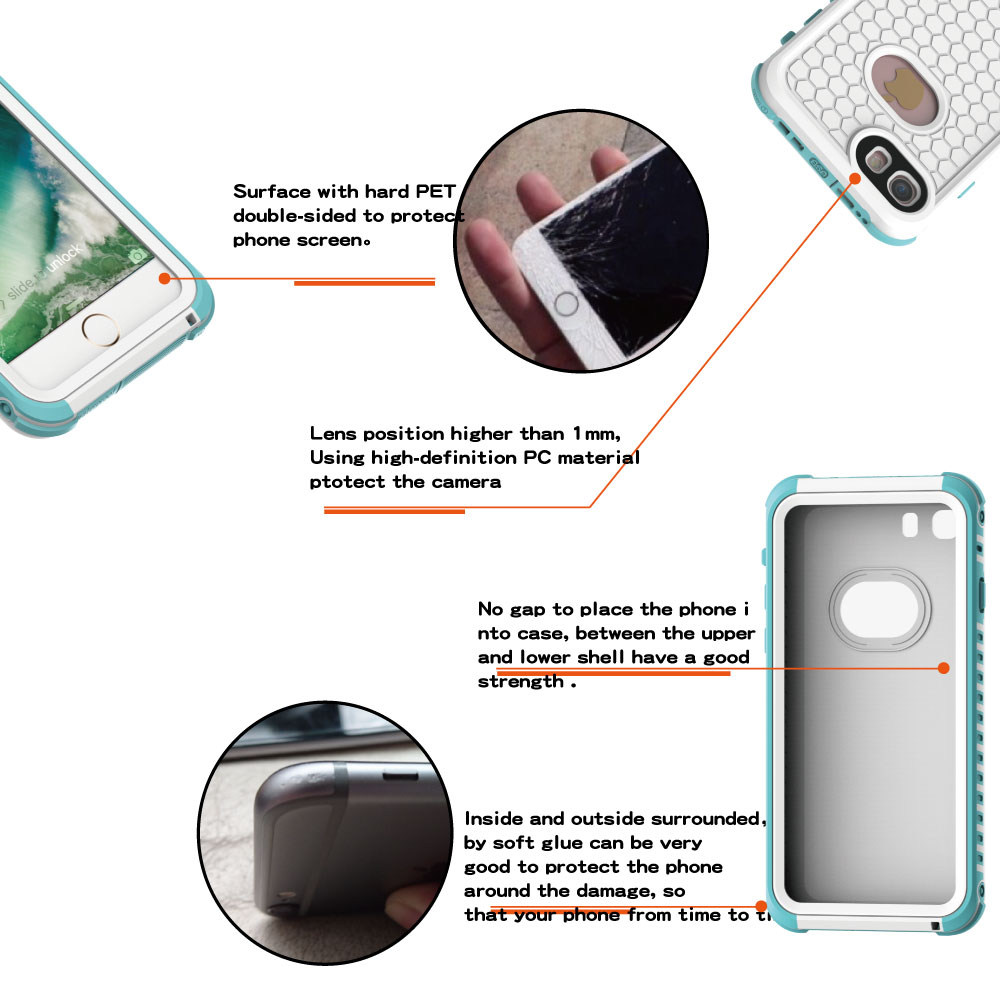 Image 5 - Luxury Shockproof Waterproof Case For iphone 7 Life and swimming dual use Waterproof Case For iPhone 6 6s 7 plus phone c-in Fitted Cases from Cellphones & Telecommunications