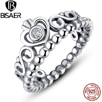 925 Sterling Silver My Princess Queen Crown Stackable Ring With Clear CZ Authentic Jewelry A7110