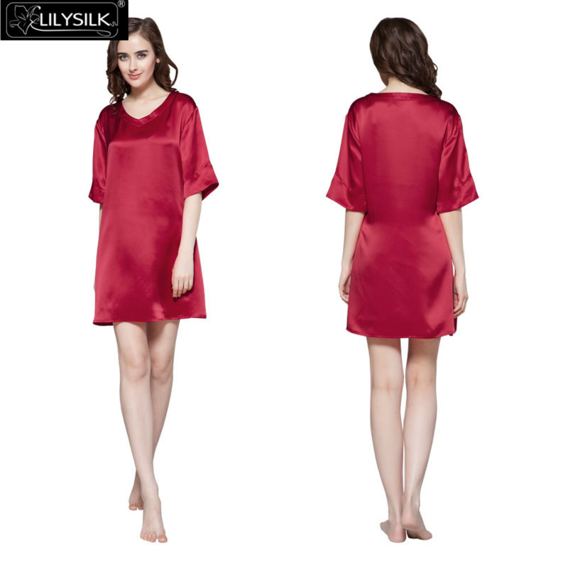 1000-claret-22-momme-wide-v-neck-silk-nightgown