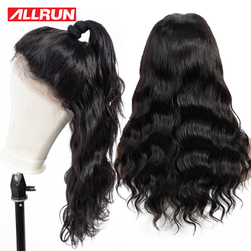 Lace Front Human Hair Wigs 13 4 Inch Lace Front Wig Brazilian Hair Wig ALLRUN Remy
