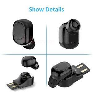Image 2 - FANGTUOSI Mini Bluetooth Earphone Wireless Headset stereo earbuds hidden micro earpiece With Mic For iPhone X 7 Earbud Earphones