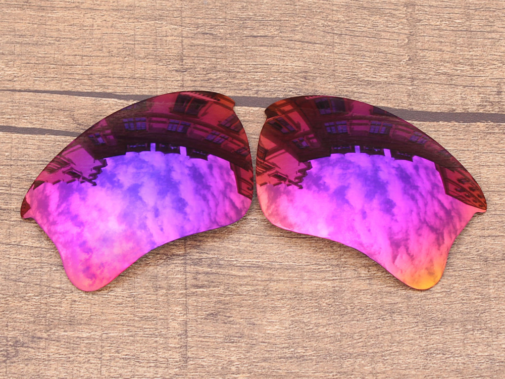 Purple Red Mirror Polarized Replacement Lenses For Flak Jacket XLJ Sunglasses Frame 100% UVA & UVB Protection