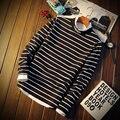 Новый Бренд толстовки Мужчин Sweatershirts Осень Зима Высокое Качество мужская Полный Длинным Рукавом Doublelayer Kintwear Пуловеры полоса TT643