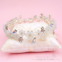 Elegant Women Tiara Crystal Hair Jewelry Floral Crown Girl Gifts Diadem Festival Marriage Party Accessories Xinya
