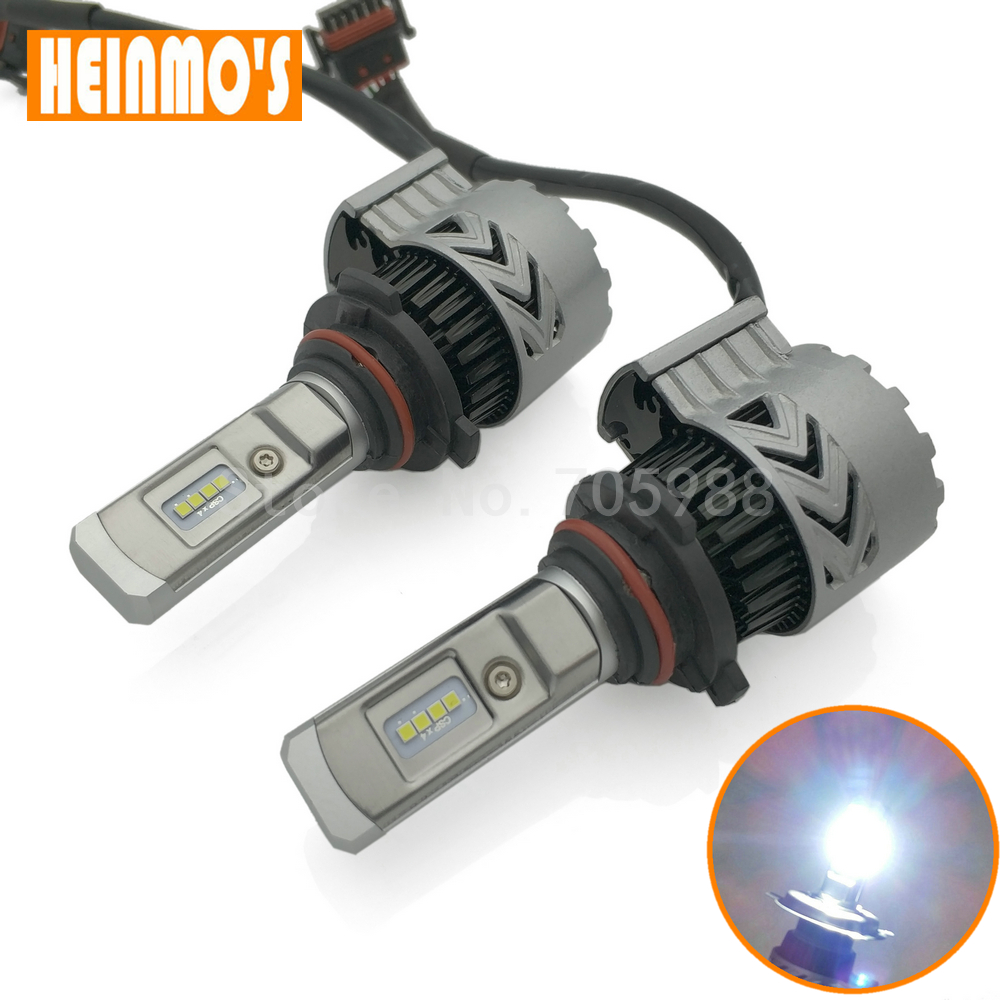 2PCS 9005 LED Headlight Bulbs 6000Lm H1 H4 LED H7 LED COB Car Fog Lights 9006 H8 H9 H11 Auto DRL automobile Headlamp 12V 24V 4 sets h4 h l high low 64w cree led headlight 2 cob xenon white 5500k 2000lm car truck universal 12v 24v h7 h8 h11 9005 9006 mix