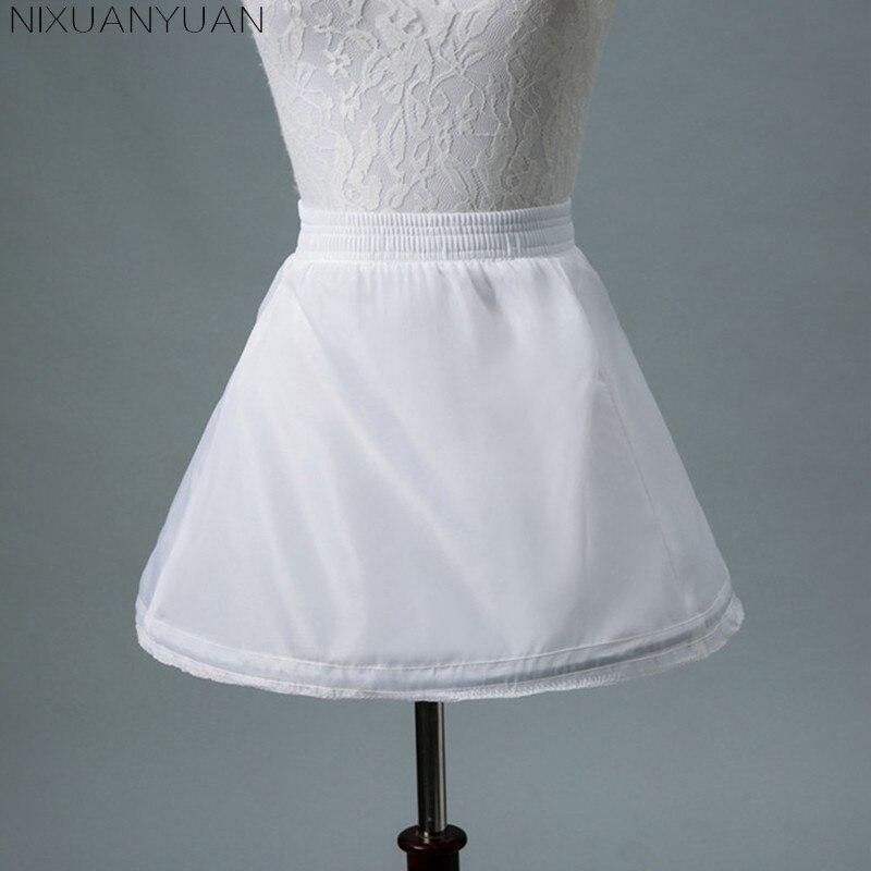 Nixuanyuan Дешевые Лолита белая детская Нижние юбки для Платья для девочек на свадьбу 2018 один обруч эластичные детские нижняя кринолин