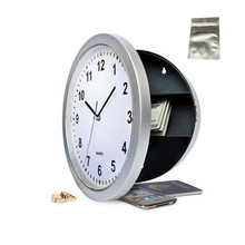 Round clock safety box safe hidden hanging wall Stash with a food grade smell proof bag