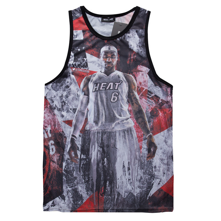 6ed49ba9769 James mesh jersey sleeveless vest summer New men's clothing Casual  breathable undershirts vest Fitness tops-in Tank Tops from Men's Clothing &  Accessories