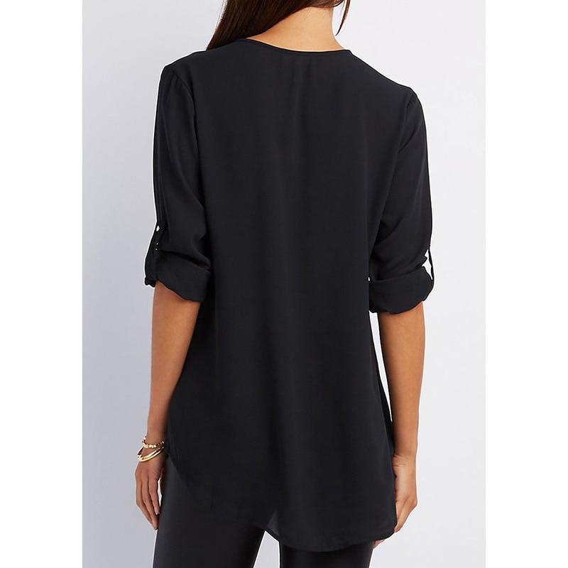Streetwear T-Shirt Chiffon V Neck Zipper Plus Size XXXXL 5XL Brand tshirt Summer T Shirt Women Clothes Camisetas Mujer Top Tee 1