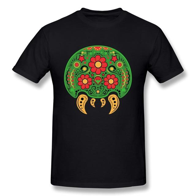 Dia De Los Metroids único de Manga Corta camiseta de Los Hombres Sale Barato 100% Algodón Camiseta para hombres