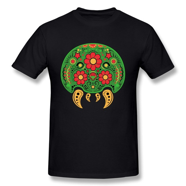 Unique Short Sleeve Dia De Los Metroids Men t-shirt Cheap Sale 100 % Cotton T Shirt for Men's