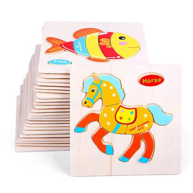 Wood Puzzles For Children Puzzle Toys Brain Teaser Puzzle Games Fun Pixel  Art Juguetes Educativos Wooden