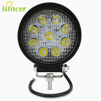 4 Inch 27W Led Car Work Light Bar 12V Tractor Spot Flood Round Square LED Light