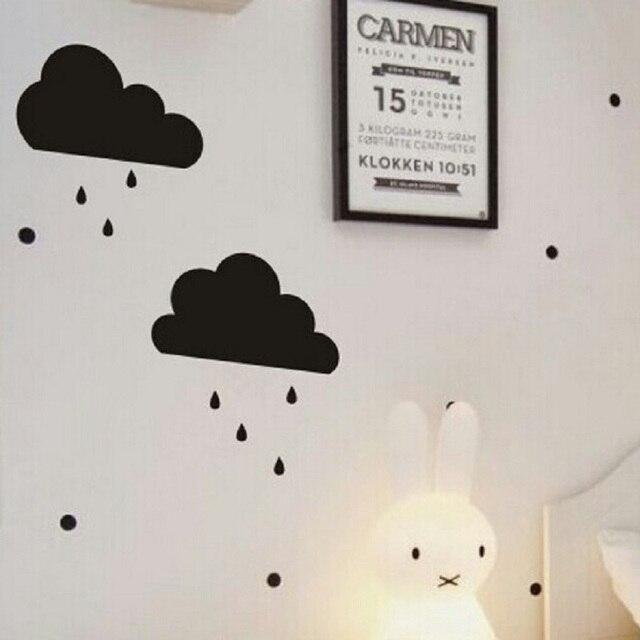 Schöne Cartoon 2 Styles Wolke Regentropfen Aufkleber Für Kinder DIY  Schlafzimmer Dekoration Nordeuropäischen Stil Spielzeug