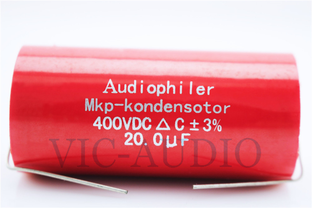1Piece Audiophiler MKP-Kondensotor 400VDC 20uf 3% Audio Capacitor Amplifier HIFI Frequency Divider Capacitance Free Shipping