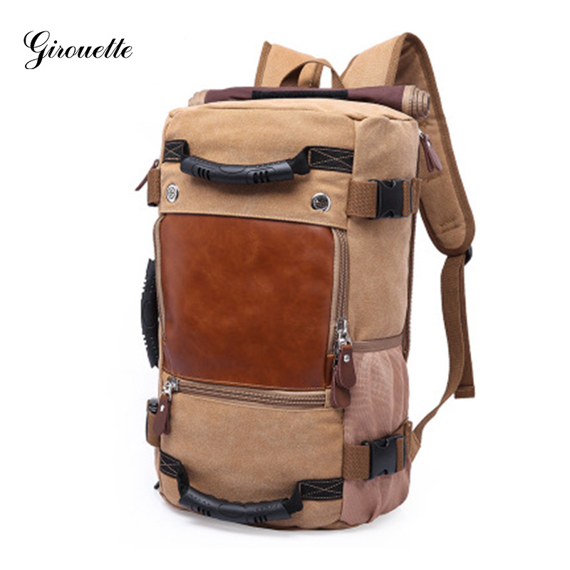 GIROUETTE Backpack Travel Large Capacity Male Luggage Shoulder Bag Computer Backpacking Men Functional Versatile Bags pro biker motorcycle saddle bag pattern luggage large capacity off road motorbike racing tool tail bags trip travel luggage