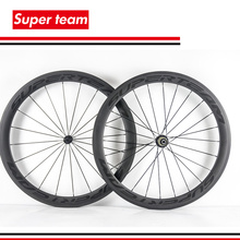 Superteam Road Bike Wheels 700c 50mm Matte Carbon Clincher Complete Wheelset with Decals(China)