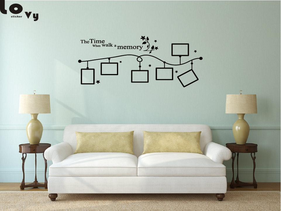 DIY Family Frame Vinyl Wall Sticker Home Decor Living Room Bedroom Wall Decals Poster Home