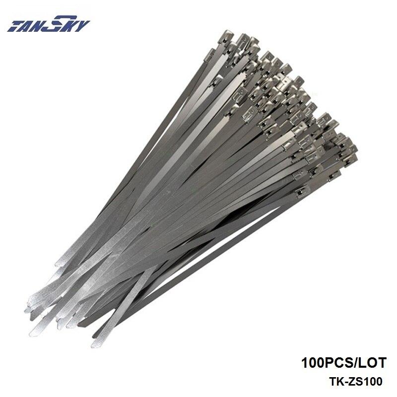 Prix pour TANSKY-100x Acier Inoxydable Attaches de Câble 4.6mm x 300mm Pour D'échappement/Radiateurs Pour Jeep YJ/TJ 87-06 TK-ZS100