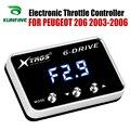 Автомобильный электронный контроллер дроссельной заслонки гоночный ускоритель мощный усилитель для PEUGEOT 206 2003-2006 Тюнинг Запчасти