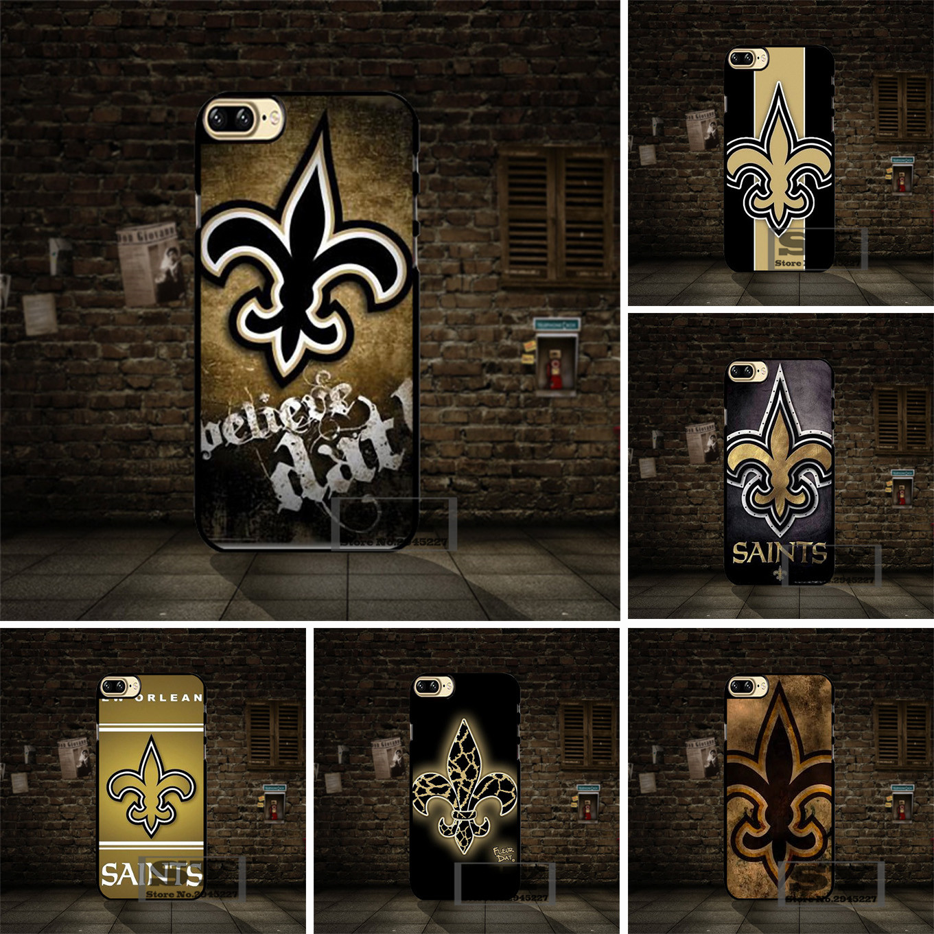 New Orleans Saints Logo Cell Phone Case Cover For Samsung Galaxy