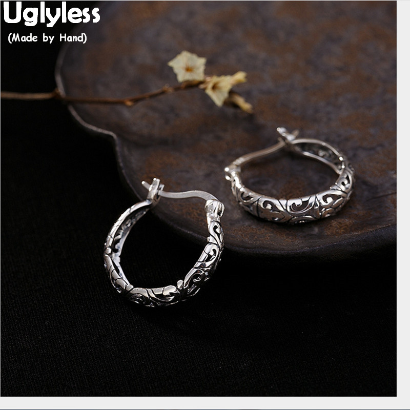 925 Sterling Silver Line Plain Earrings With Natural Stones