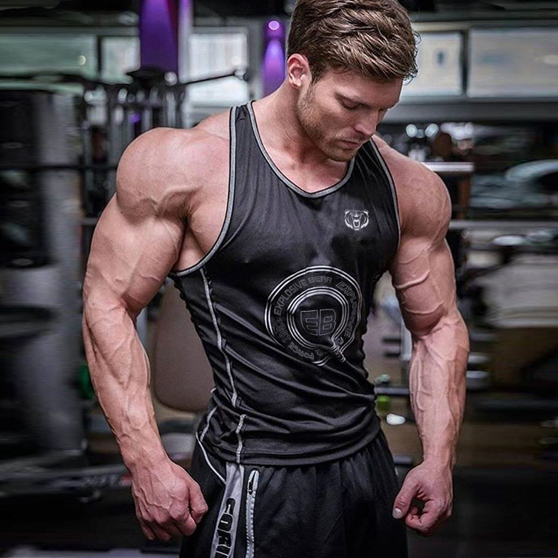2019 Brand Gyms Clothing Sporting Singlet Bodybuilding Stringer   Tank     Top   Men Fitness Shirt Muscle Sleeveless Vest Tanktop