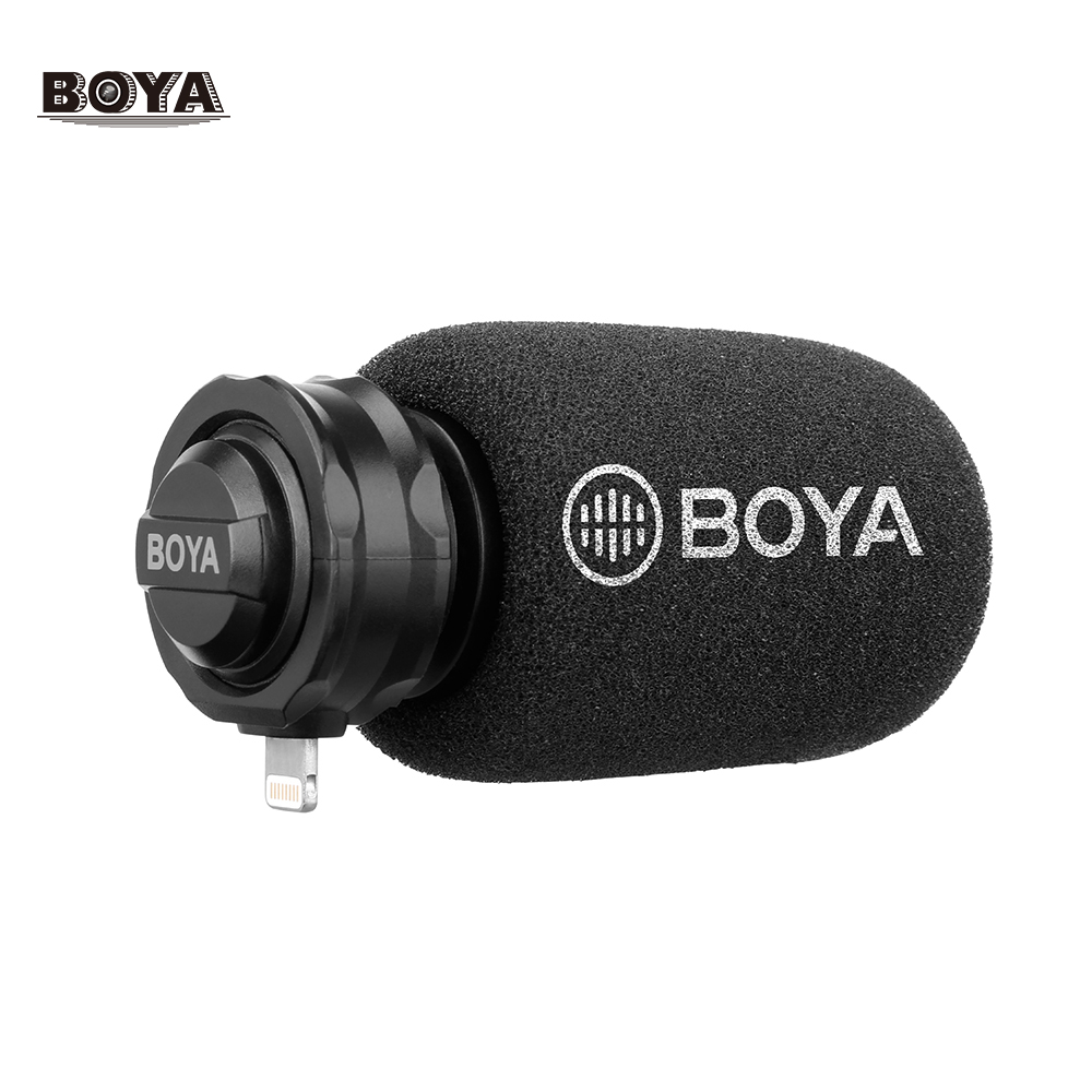 BOYA BY DM200 Digital Stereo Cardioid Condenser Microphone MFI Certified Superb Sound for iOS Devices Recording