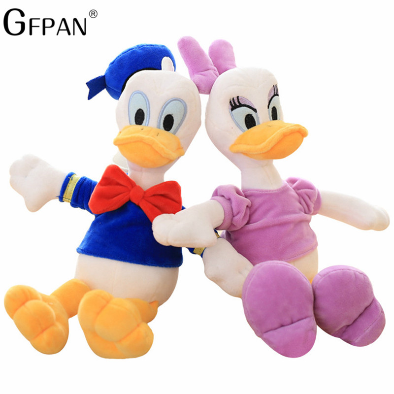 Toys & Hobbies Dolls & Stuffed Toys New Arrival 25/30cm Stuffed Animal Dolls Soft Cute Lying Donald Duck Plush Toys Mickey Minnie Christmas Gifts For Kids Girls
