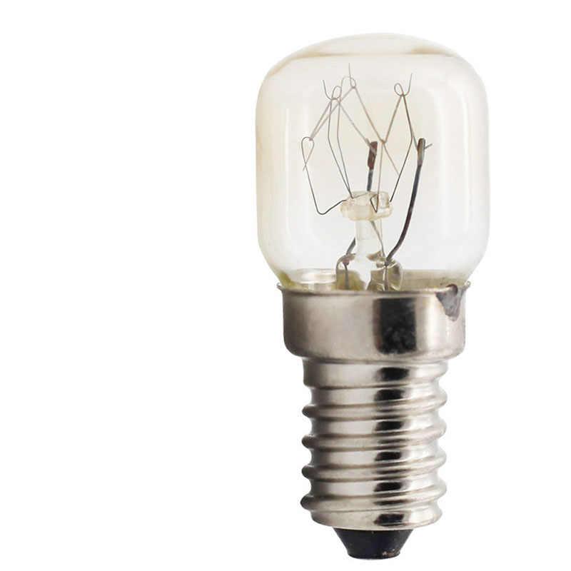 220V haute température ampoule 15W 25W E14 300 degrés four à micro-ondes ampoules cuisinière tungstène Filament lampe ampoules sel ampoule