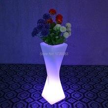 1 piece remote control LED Light Flowerpot Colors Changeable Luminous flash flower pot tray Vase LIGHT indoor Outdoor