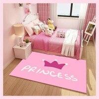 Home girl children room carpet princess pink carpet antiskid crawl cartoon unicorn area rug baby livingroom tapete customized