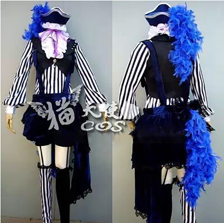 Anime Black Butler Kuroshitsuji Cosplay Ciel Phantomhive Circus Uniform Costume Whole Set