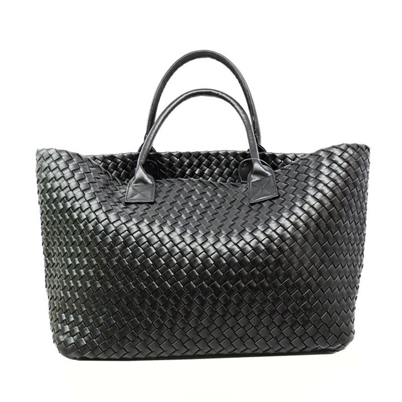 Frauen Taschen designer Herbst mode klassische manuelle duplex woven handtasche große tasche Europa Frau korb verkauf tragbare paket-in Taschen mit Griff oben aus Gepäck & Taschen bei  Gruppe 1