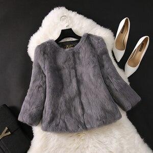 Image 5 - 2020 חדש מכירה לוהטת גברת אמיתי ארנב פרווה מעיל אמיתי אמיתי ארנב פרווה מעיל מזדמן מלא פלט 100% טבעי ארנב פרווה חזייה