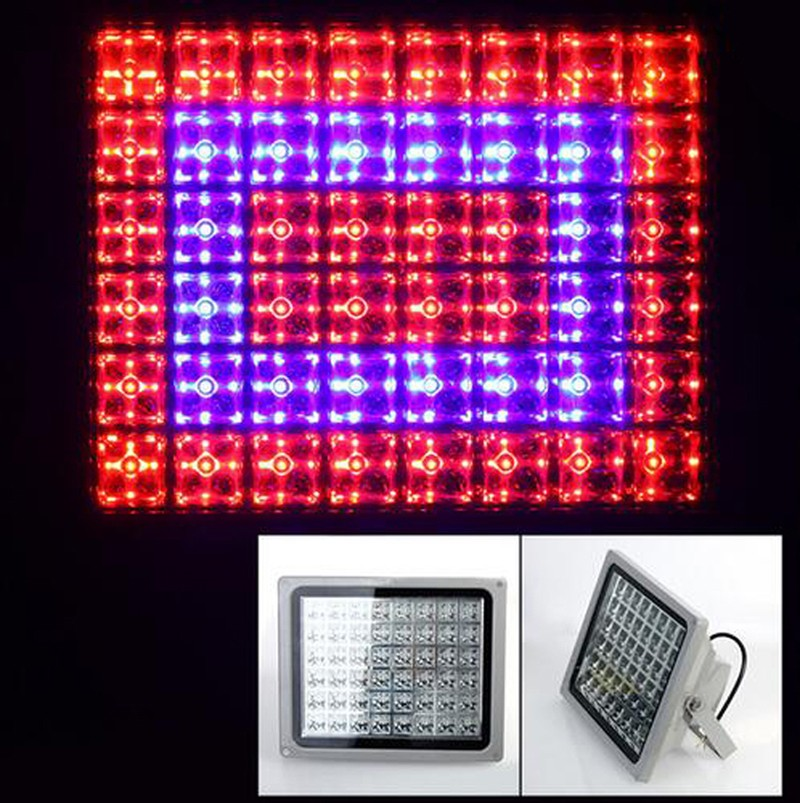 2pcs/lot 100W LED Grow Flood Light lamp ac85-265v For Horticulture Garden Flowering Plants Hydroponics System grid spotlight 5pcs lot 90w ufo led grow light led horticulture lighting 9bands led lamp best for medicinal plants growth and flowering