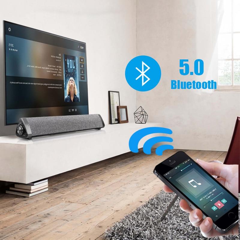 HIFI 3D Stereo Portable wireless Bluetooth Speaker Stereo TF FM Radio Music Subwoofer Column Speakers for Computer Phones in Computer Speakers from Consumer Electronics