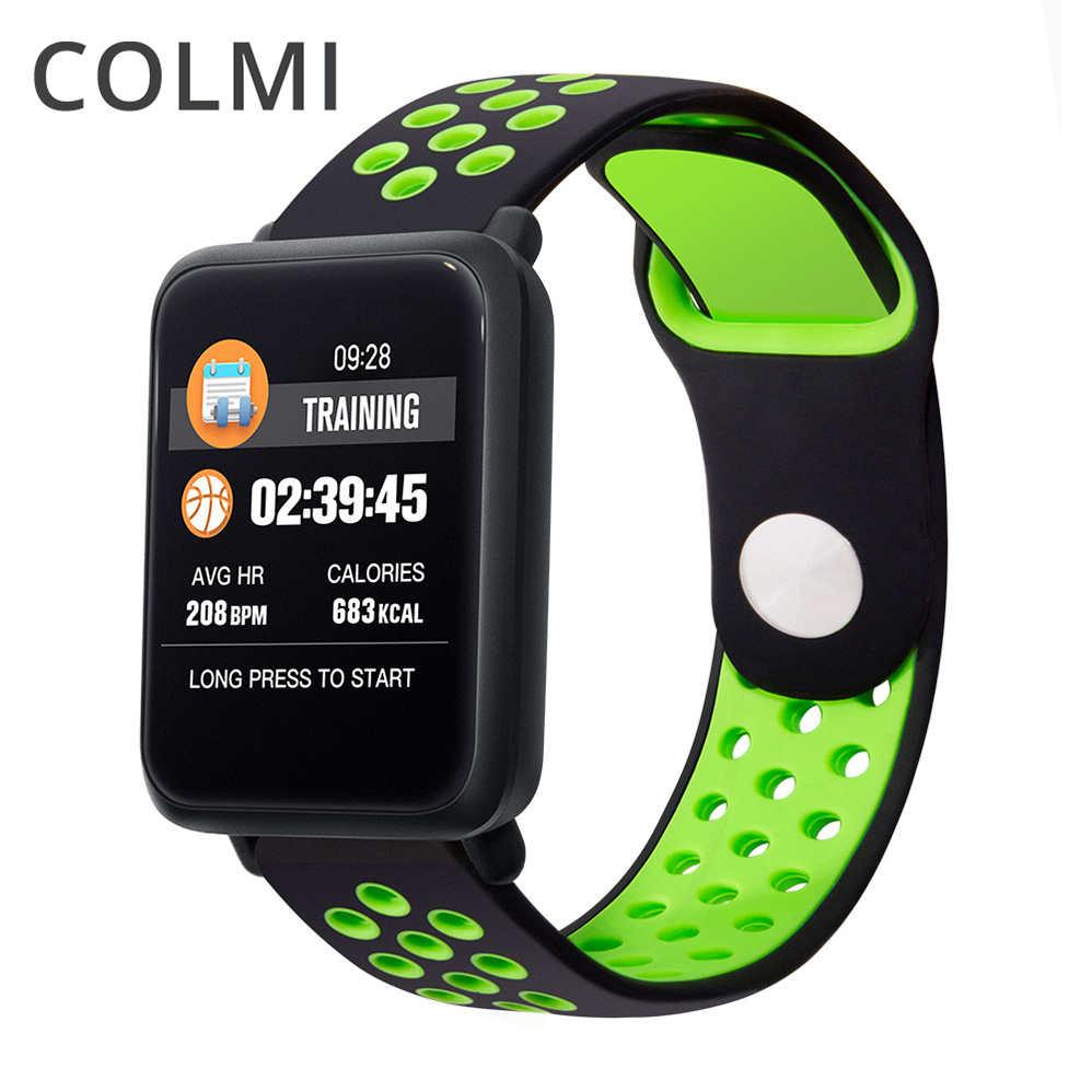 COLMI Smart banda Monitor de ritmo cardíaco pulsera Fitness presión arterial IP68 impermeable 9,9mm espesor relojes Pk Fitbits miband 3