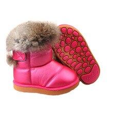 Снега реальная лодыжки кролика шерсть ботинки сапоги плюшевые теплые новая мягкий