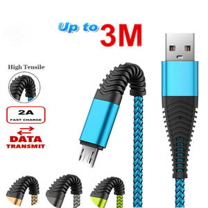 Micro USB 1 M 2 M 3 M Fast Charging Phone Data Charger Cable For Samsung S4 S5 S6