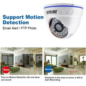 Image 2 - IP камера Smar Onvif Full HD H.265 20FPS 1080P H.264 720P купольная камера безопасности с 24 ик светодиодами POE/дополнительный внешний аудио XMEYE