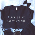 2016 Summer Black Is My Happy Color Killin It Cropped Feminino Cropped Tops for Women Cotton Print Sexy Tees Black Woman Clothes