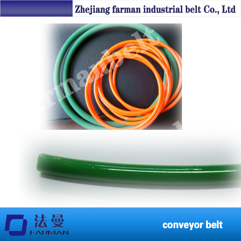 smooth and rough surface Green Orange Transparent PU/ Polyurethane round belt green orange transparent pu round belt polyurethane drive belt smooth and rough surface for sale