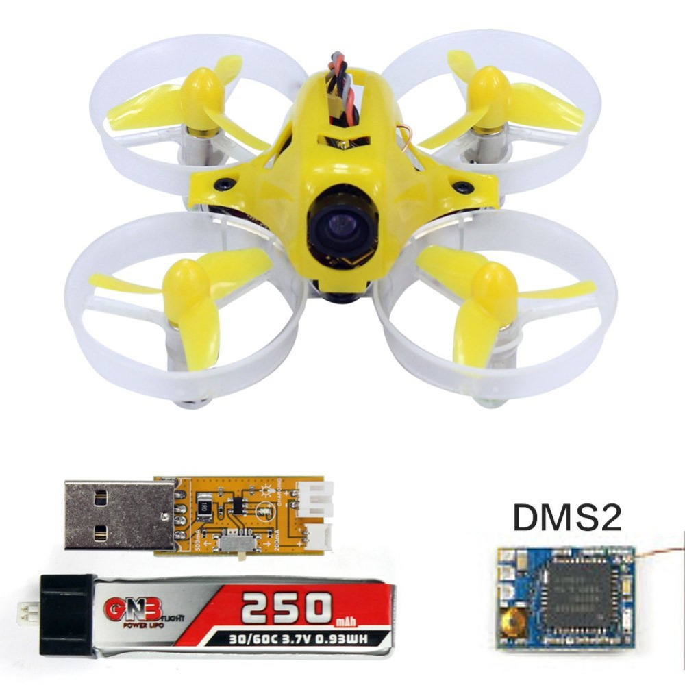 Yellow Tiny6 PNP Mini Pocket Racing FPV Drone Camera KingKong Quadcopter 800TVL Camera With DSM 2