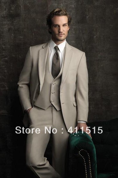 Cheap Men Two Buttons Notch Lapel Groom Wear Tuxedos Men Wedding Suits Best Man Suit/free Shipping/custom Groom Dress