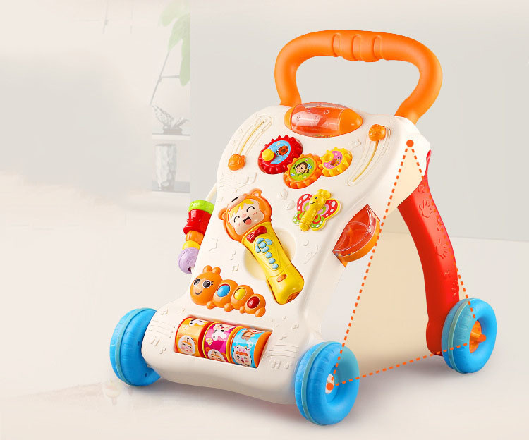 Multifunctional Baby Walker With Music & Lignt Baby Learning to Stand Trolley Adjustable Infant Musical Instrument Education Toy (12)