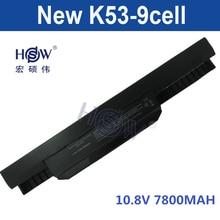 7800mAh Battery For Asus X54H X53U X53S X53SV X84 X54 X43 A43 A53 K43 K53U K53T K53SV K53S K53E k53J K53 A53S A42-K53 A32-K53