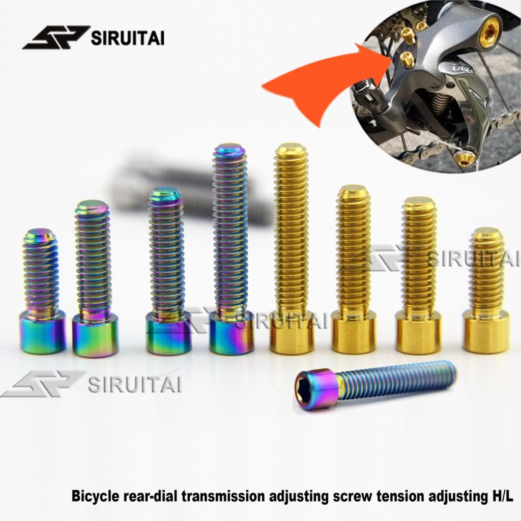 4pcs M6 x 20mm Titanium Half round Head screws bolts waskers