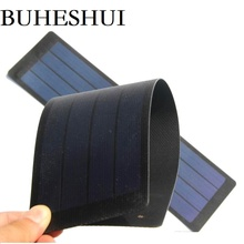 BUHESHUI 2W 6V Foldable Solar Cells/Solar Panel For DIY Phone Charger+Waterproof Flexible Film 10pcs Wholesale Free shipping